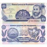 Banknoten Sammlung Nicaragua Pick Nummer 170 - 25 Cordoba