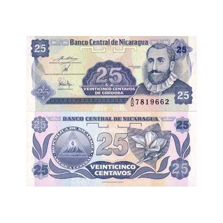Billets de collection Billet de banque Nicaragua Pk N° 170 - 25 Centavo Billets du Nicaragua 1,00 €