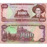 Banknote Nicaragua Pick number 156 - 1000 Cordoba