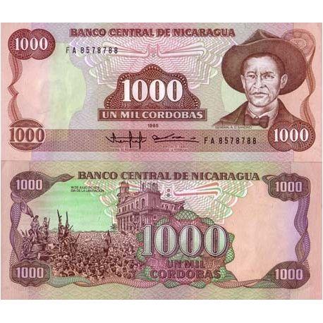 Billets de collection Billets banque Nicaragua Pk N° 156 - 1000 Cordoba Billets du Nicaragua 4,00 €