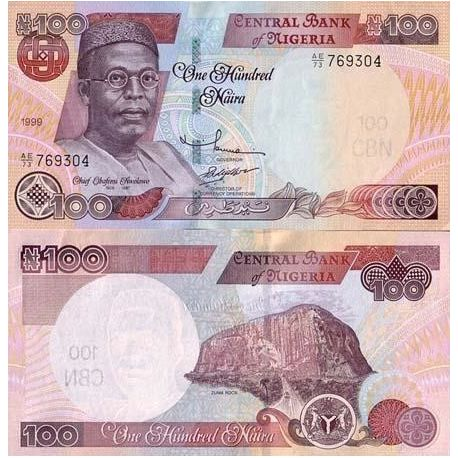 Billets de collection Billet de banque Nigeria Pk N° 28 - 100 Naira Billets du Nigeria 4,00 €