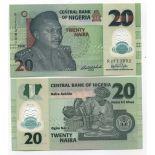 Billet de collection Nigeria Pk N° 34 - 20 Naira