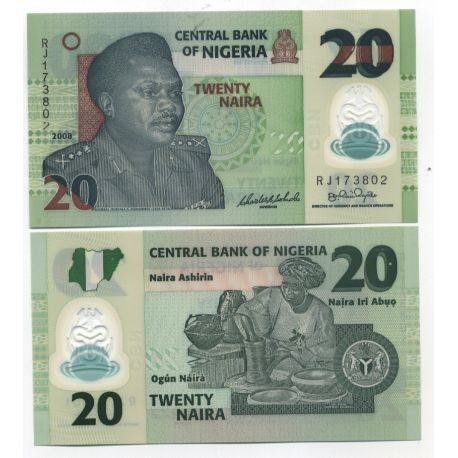 Billet de collection Nigeria Pk N° 34 - 20 Naira
