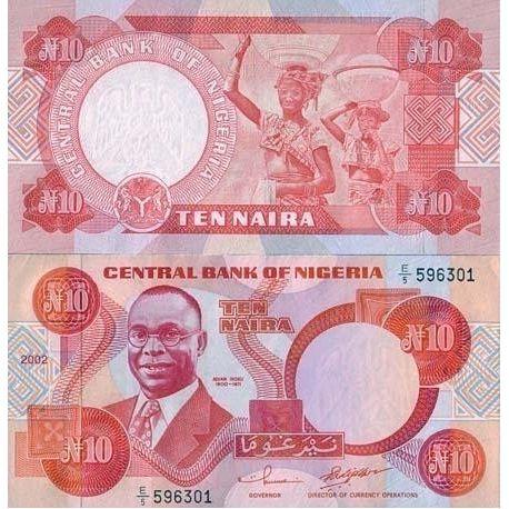 Nigeria - Pk Nr. 25 - 10 Naira Hinweis