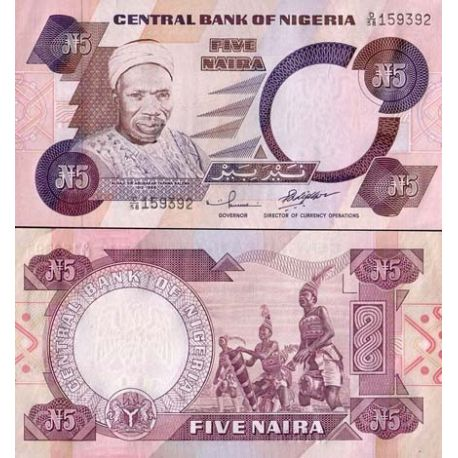 Billets de collection Billets collection Nigeria Pk N° 24 - 5 Naira Billets du Nigeria 5,50 €