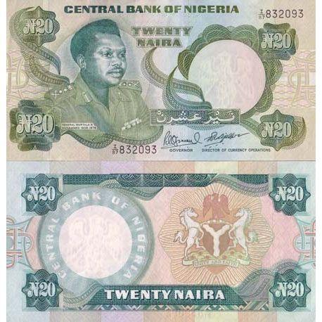 Billets banque Nigeria Pk N° 26 - 20 Naira