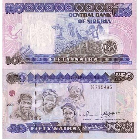 Billets de banque Nigeria Pk N° 27 - 50 Naira