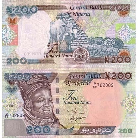 Billets banque Nigeria Pk N° 29 - 200 Naira
