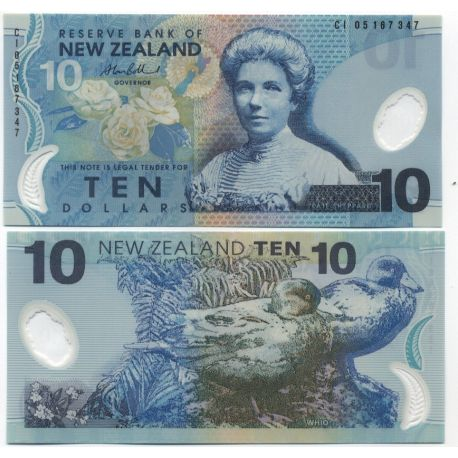 Nlle Zelande - Pk N° 186 - Billet de 10 Dollar