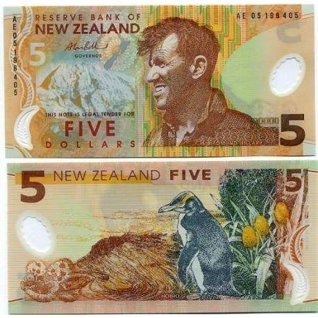 Nlle Zelande - Pk N° 185 - Billet de 5 Dollar