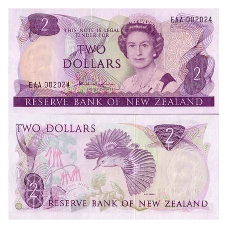 Nlle Zealand - Pk # 170 - Ticket 2 Dollars