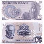 Banconote Norvegia Pk N° 36 - 10 Kronur