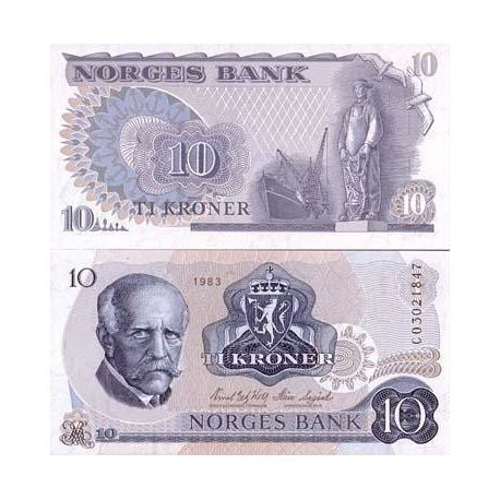 Norvege - Pk N° 36 - Billet de 10 Kronur