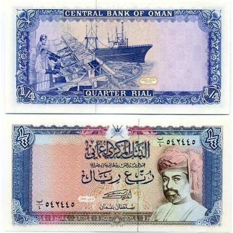 Billets de collection Billet de banque Oman Pk N° 24 - 1/4 Rial Billets d'Oman 9,00 €