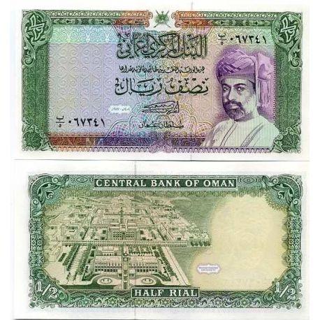 Billets de collection Billets de banque Oman Pk N° 25 - 1/2 Rial Billets d'Oman 26,00 €
