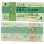 Billet de collection Allemagne EST Pk N° 3 - Billet de banque de 5 Mark