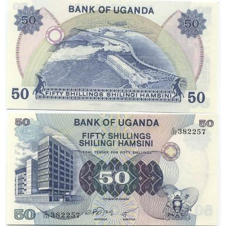 Billets de collection Billets collection Ouganda Pk N° 13 - 50 Shillings Billets d'Ouganda 8,00 €