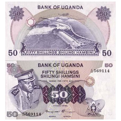 Billets de collection Billet de banque Ouganda Pk N° 8 - 50 Shillings Billets d'Ouganda 8,00 €