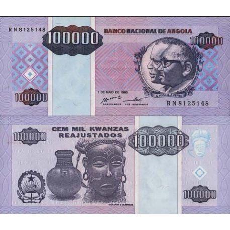 Billet de banque Angola Pk N° 139 - 100000 Kwanzas