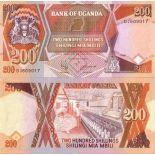 Billets collection Ouganda Pk N° 32 - 200 Shillings