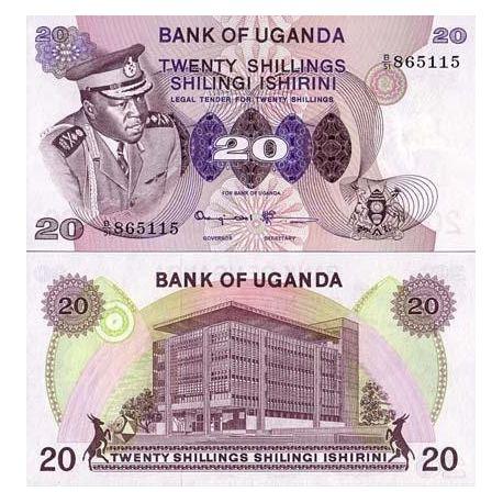 Ouganda - Pk N° 7 - Billet de 20 Shillings