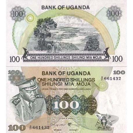 Billets de collection Billets de banque Ouganda Pk N° 9 - 100 Shillings Billets d'Ouganda 10,00 €