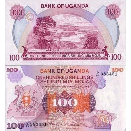 Ouganda - Pk N° 19 - Billet de 100 Shillings