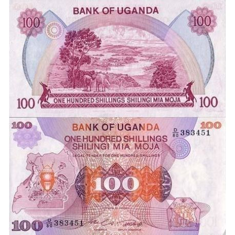 Billets de collection Billets collection Ouganda Pk N° 19 - 100 Shillings Billets d'Ouganda 10,00 €