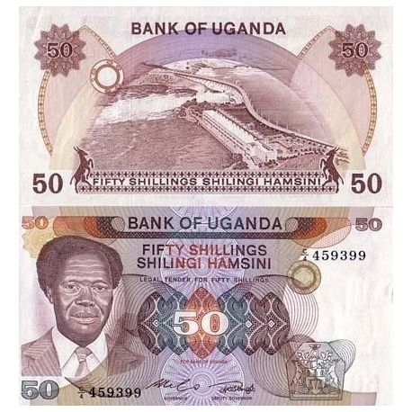 Billets de collection Billet de collection Ouganda Pk N° 20 - 50 Shillings Billets d'Ouganda 5,00 €