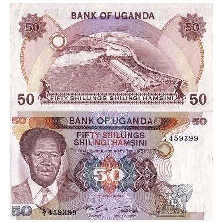 Ouganda - Pk N° 20 - Billet de 50 Shillings