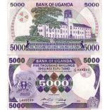 Collezione banconote Uganda Pick numero 24 - 5000 Shilling