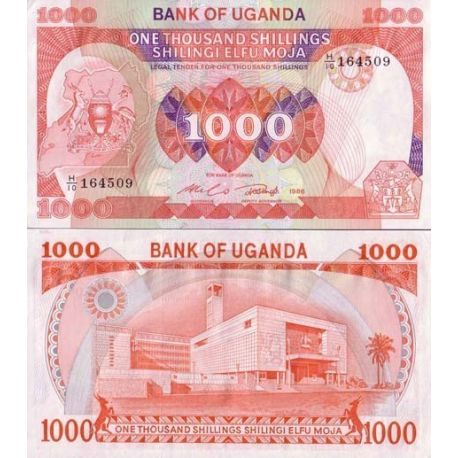 Billets de collection Billets collection Ouganda Pk N° 26 - 1000 Shilling Billets d'Ouganda 7,00 €