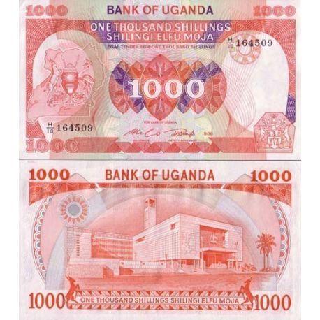 Ouganda - Pk N° 26 - Billet de 1000 Shilling