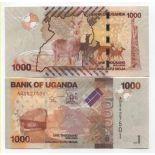 Billet de banque Ouganda Pk N° 49 - 1000 Shilling