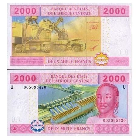 Central Africa Cameroon - Pk # 208 - ticket 2000 Francs