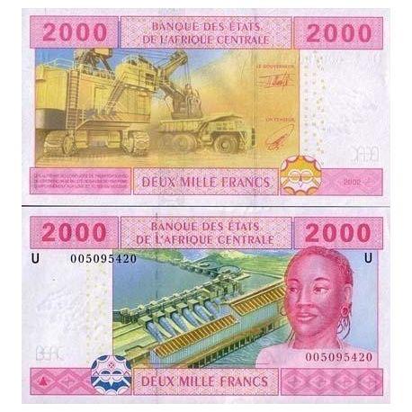 Billets de collection Billets collection Afrique Centrale Cameroun Pk N° 208 - 2000 Francs Billets du Cameroun 13,00 €