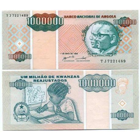 Billets de banque Angola Pk N° 141 - 1000000 Kwanza