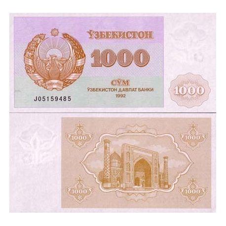 Billets de collection Billet de banque Ouzbekistan Pk N° 70 - 1000 Sum Billets d'Ouzbekistan 22,00 €