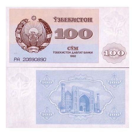 Billets de banque Ouzbekistan Pk N° 67 - 100 Sum
