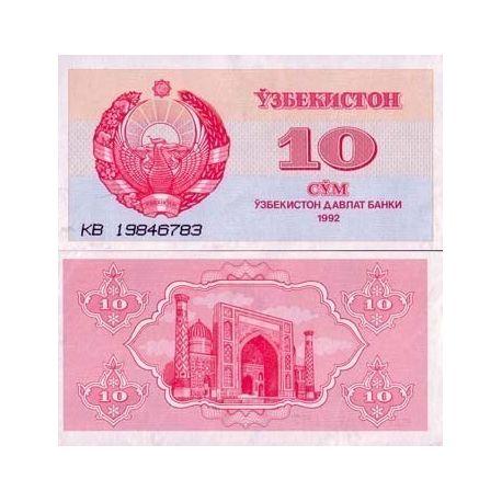 Ouzbekistan - Pk N° 64 - Billet de 10 Sum