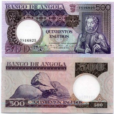 Angola - Pk Nr. 107 - 500 Kwanza-Hinweis