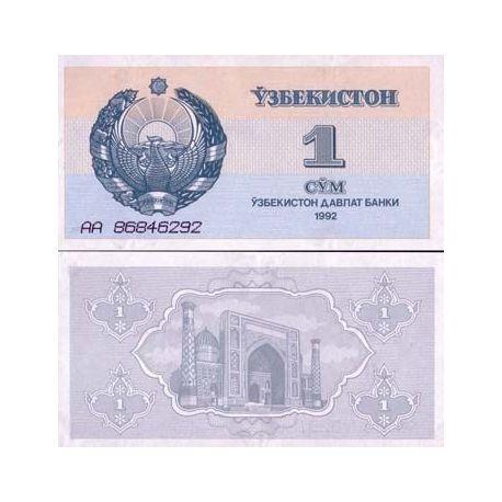 Billets de collection Billets banque Ouzbekistan Pk N° 61 - 1 Sum Billets d'Ouzbekistan 2,00 €