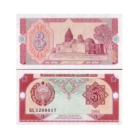 Billet de collection Ouzbekistan Pk N° 74 - 3 Sum