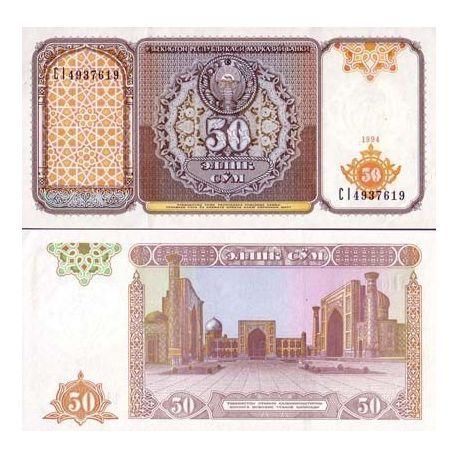 Ouzbekistan - Pk N° 78 - Billet de 50 Sum