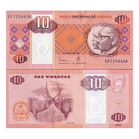 Angola - Pk N° 145 - Billet de 10 Kwanzas