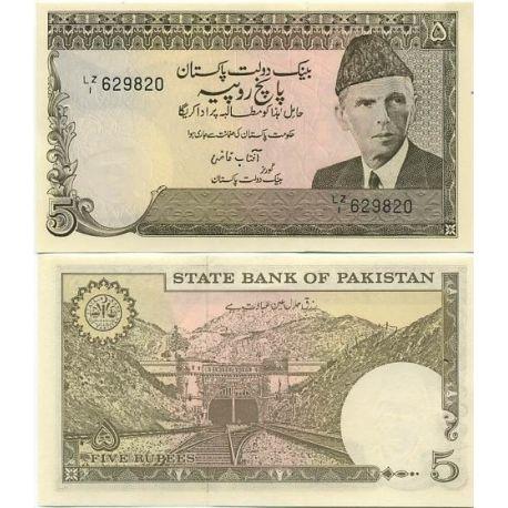Billets banque Pakistan Pk N° 28 - 5 Ruppees