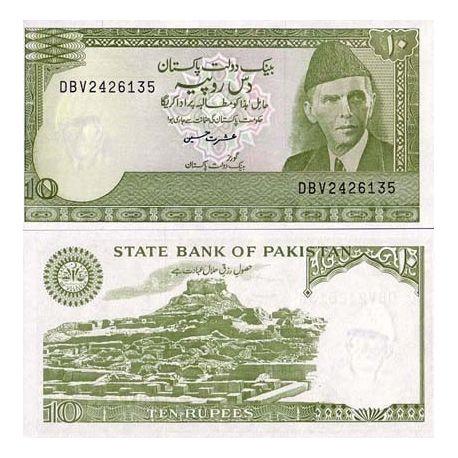 Billet de collection Pakistan Pk N° 39 - 10 Ruppee
