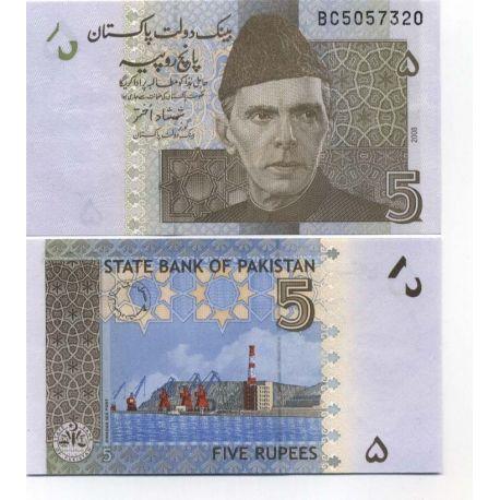 Billets de banque Pakistan Pk N° 53 - 5 Ruppees