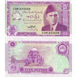 Bello banconote Pakistan Pick numero 44 - 5 Roupie