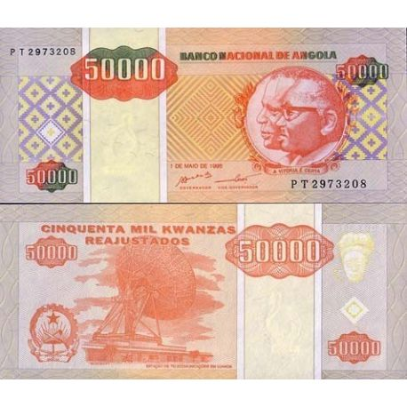 Billets banque Angola Pk N° 138 - 50000 Kwanzas